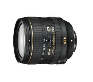 Kamera og objektiv. Nikon AF-S DX NIKKOR 16-80mm f/2.8-4E ED VR