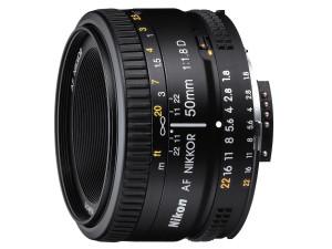 Kamera og objektiv. Nikon NIKKOR AF 50mm f/1.8D